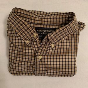 Abercrombie & Finch Mens Long Sleeve Button Down